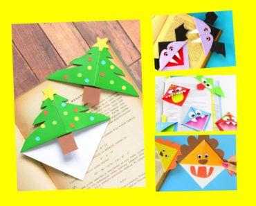 pyssel, pysseltips, pysselidé, barnpyssel, pyssel för barn, origami, vika papper, vika bokmärke, vika hörnbokmärke