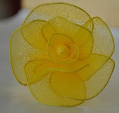 Hướng dẫn làm hoa hồng bằng vải voan - ghép