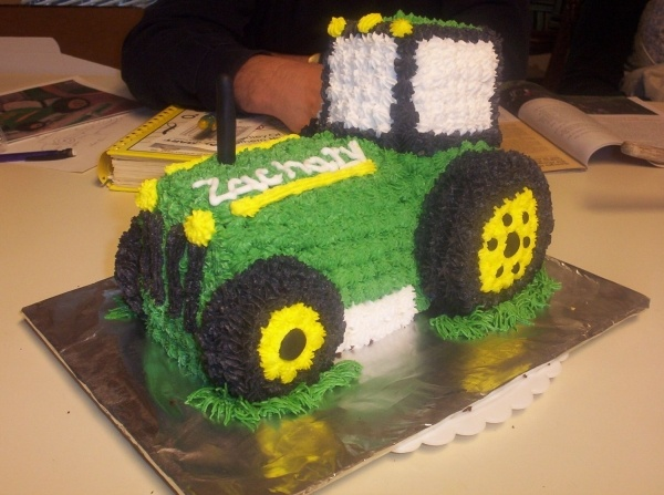 Tractor cake you should make this for Camo just because :)