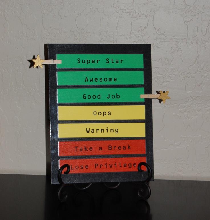The Super Star Behavior Chart. $12.00, via Etsy.