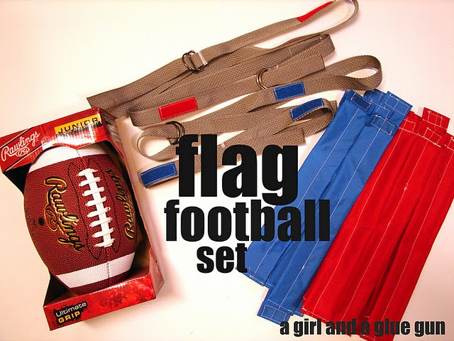 diy flag football I need a crafty friend to help me! Conner wants to have a massive flag football Bday party in our front yard this year his own super bowl bday.
