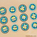 FREE Printable Despicable Me 2 Evil Minion Cupcake Toppers
