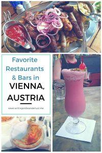 Where to eat & drink while in Vienna, Austria!  My Favorite Bars and Restaurants in Vienna http://writingandwanderlust.me/my-favorite-bars-and-restaurants-in-vienna/?utm_campaign=coschedule&utm_source=pinterest&utm_medium=Katie&utm_content=My%20Favorite%20Bars%20and%20Restaurants%20in%20Vienna