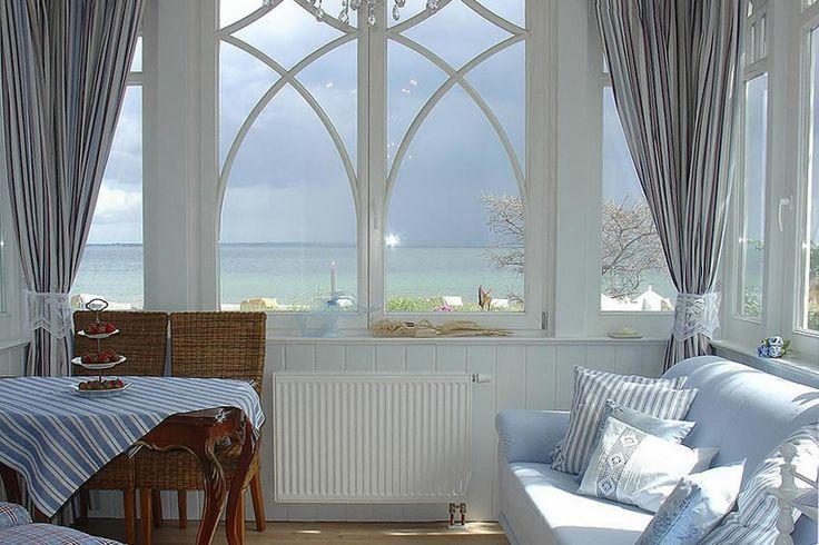 Wintergarten mit traumhaftem Blick über die gesamte Lübecker Bucht. Villa Hansa, Timmendorfer Strand. #Timmendorfer #Strand #Villa #Hansa