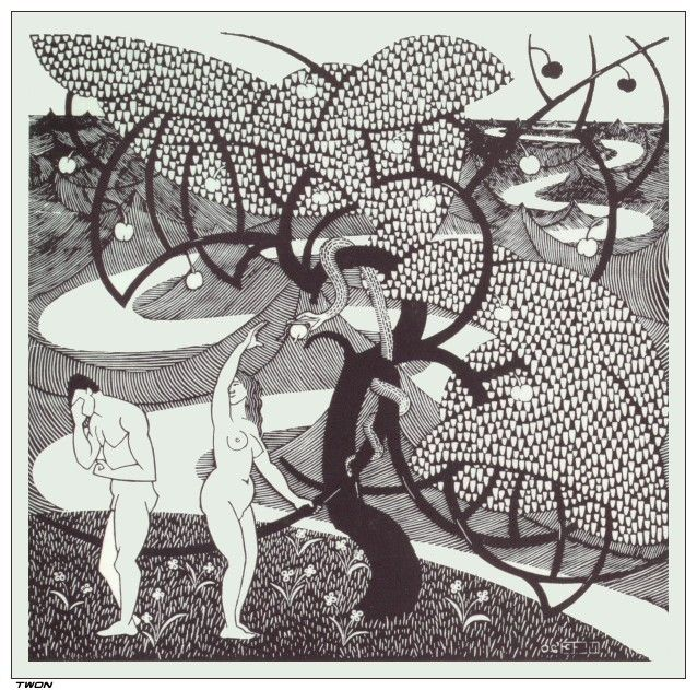 M.C. Escher - The Fall of Man 1920