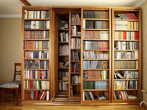 sliding bookshelves!!