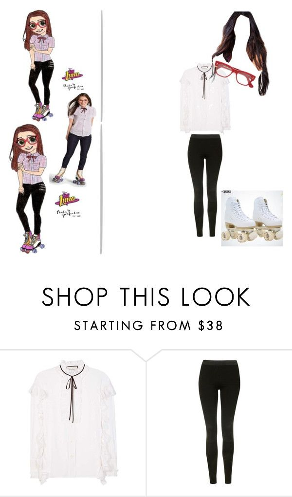 """Soy Luna/Nina"" by julia-clv ❤ liked on Polyvore featuring Gucci, Topshop and Cutler and Gross"