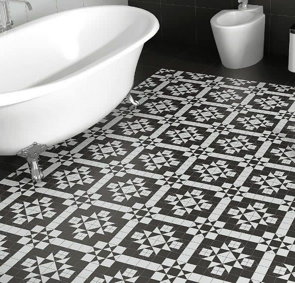 Black And White Bathroom Floor Tiles Kalafrana Ceramics Sydney