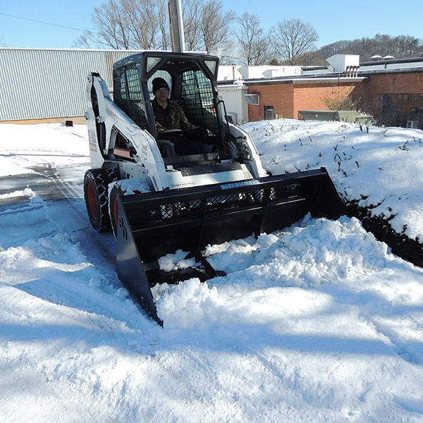 Snow Debris Bucket Attachment For Skid Steers In 2020 Skid Steer Attachments How To Level Ground Outdoor