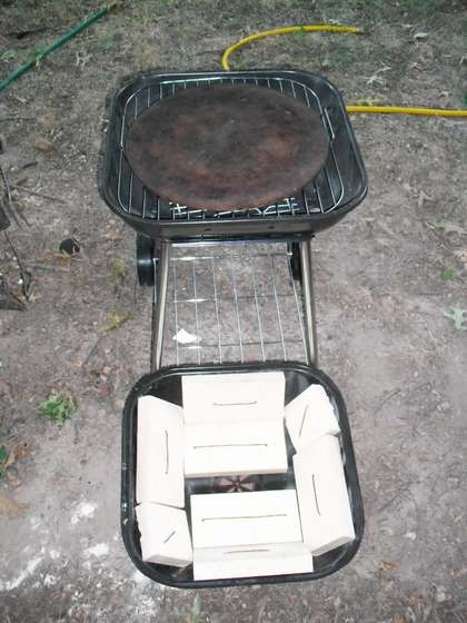 Pizza $50.00 Brick Oven Pizza Grill for small places, camping, or power outtage emergency oven.