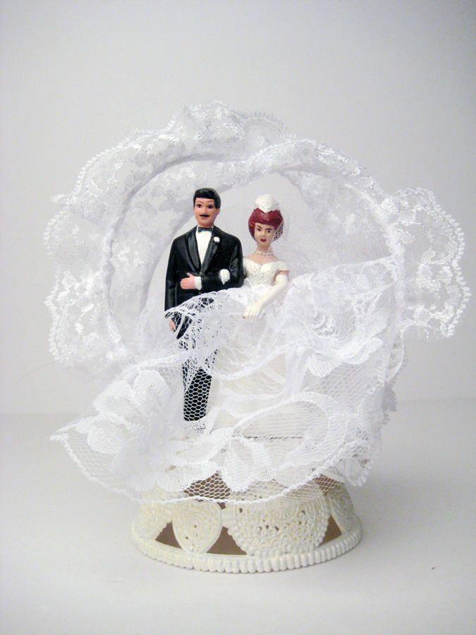 Vintage Wedding Cake Topper 50s 60s Vintage Bride And