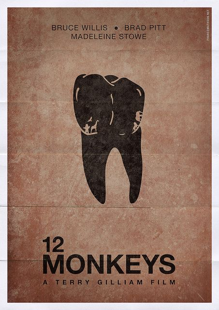 12 Monkeys (1995) ~ Minimal Movie Poster by Franco Mathson