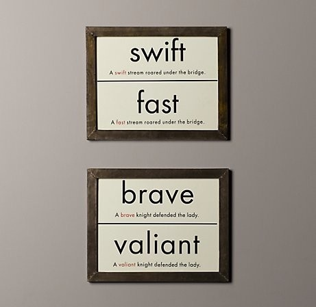 for homeschool room- love the idea of displaying some vocab each week...