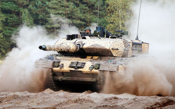 Download wallpapers Leopard 2A7, German battle tank, modern armored vehicles, Leopard 2, German army