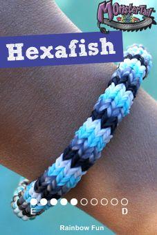 Rainbow Loom Hexafish Bracelet Design Monster Tail bracelet  Monster Tail Australia/New Zealand