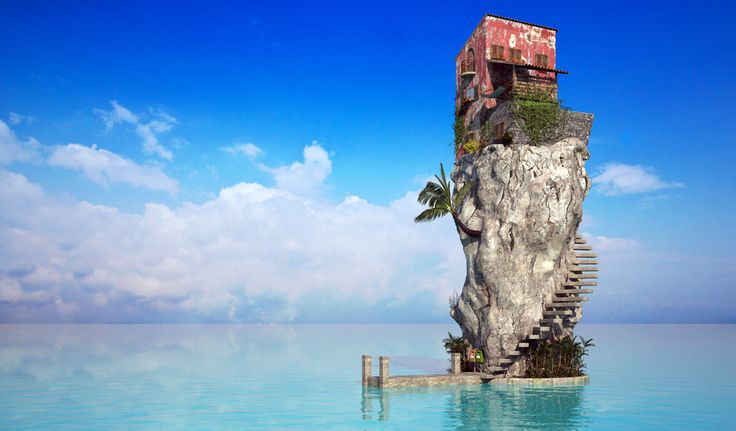 Pool island: Cloud Wallpaper, Stress Free, Dreams Home, Favorite Places, Sea House, Dreams House, Relaxing Places, Desktop Wallpapers, Sweet Home