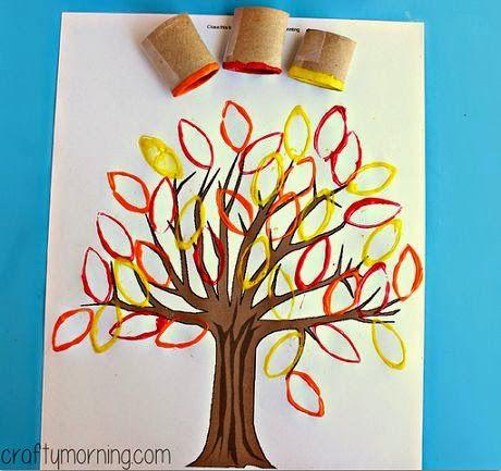 Askartelupankki: Syksyinen puu