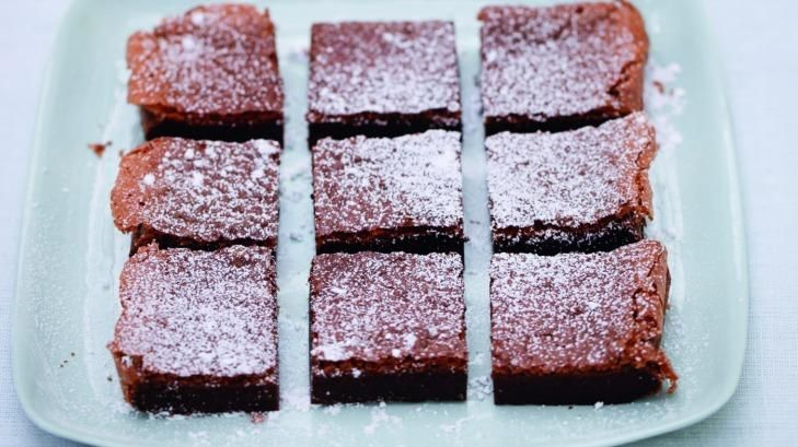 Nutella brownies by Nigella Lawson from her recipe book Simply Nigella.