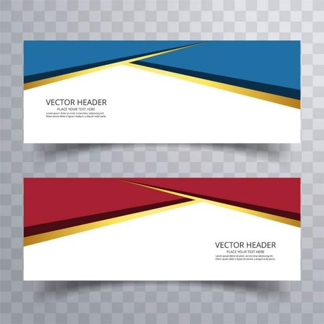 Abstract Web Banner Design Or Header Templates With Wave Web Banner Design Web Banner Banner Design