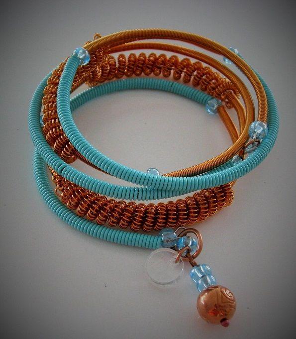 Armband, bracelet, memory wire, kopparsmycke, copper jewelry