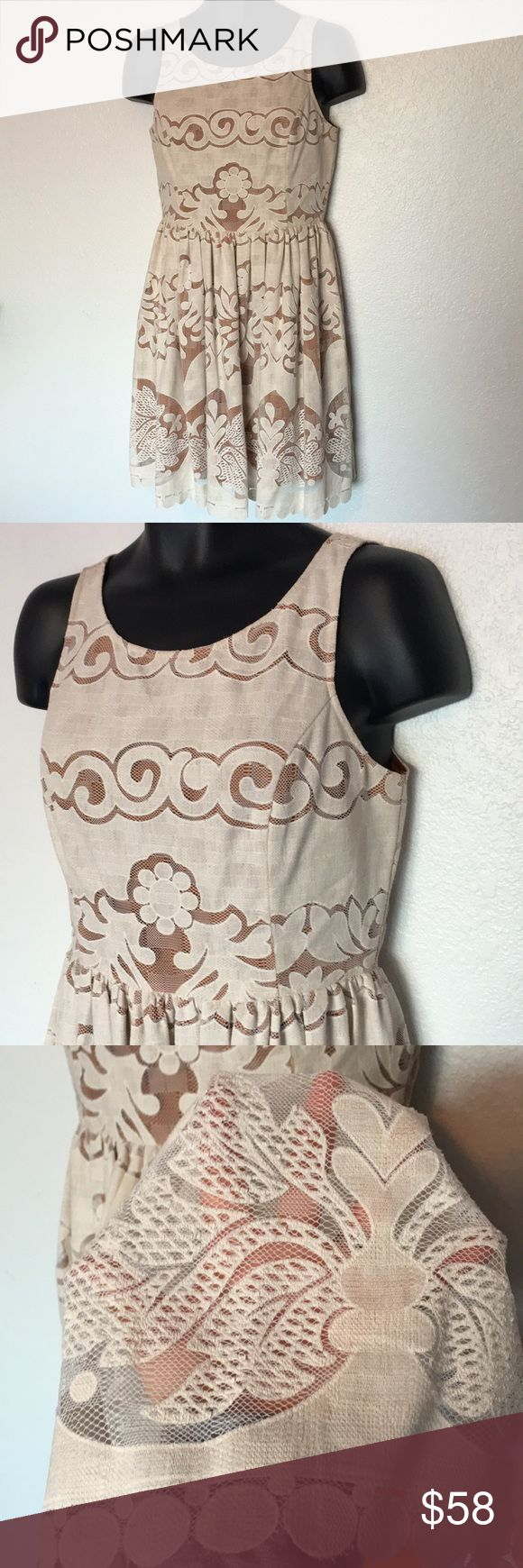🆕NWT Under Skies Crochet Dress This dress is a beautiful ivory crochet with yellowish orange underlining. Absolutely stunning! NWT, size L. Save on ✈️SHIPPING✈️and 🎁BUNDLE! I even give a discount on 3 or more regularly priced item bundles. I always accept reasonable offers with the offer button! 🚫❌Lowball offers please! Under Skies Dresses