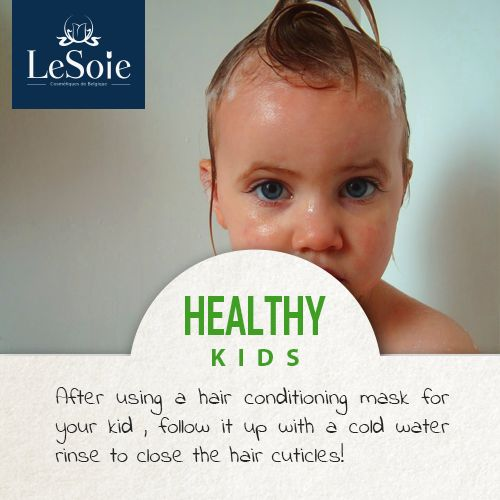 After using a #hair #conditioning #mask for your #kid , follow it up with a cold water rinse to close the hair Cuticles  بعد إستخدام بلسم الشعر لأطفالك, اغسليه مرة اخري بالماء البارد لتحريك الدورة الدموية