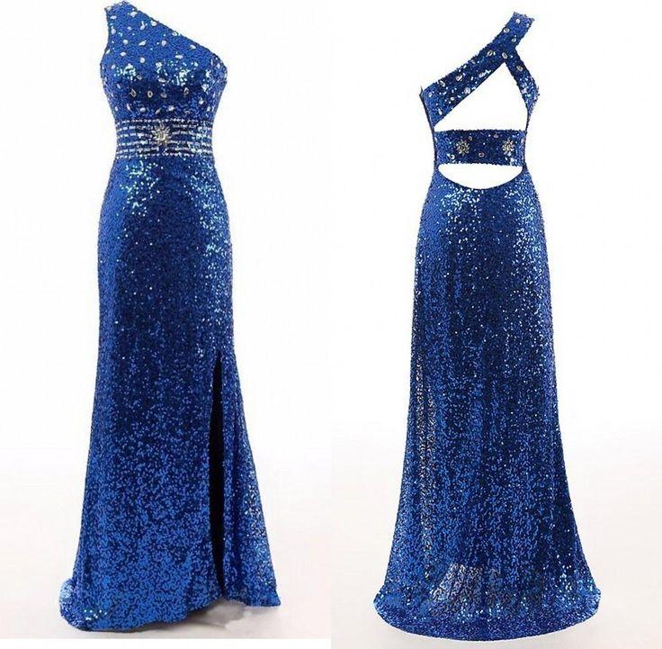 royal blue prom Dress,one shoulder Prom Dress,prom dresses,sparkle prom dress #promdresses #fashion #shopping #dresses #eveningdresses #blue