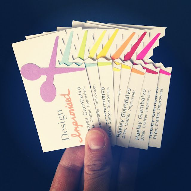 DIY Blogger Business Cards from Design Improvised - a cool idea for any creative entrepreneur!
