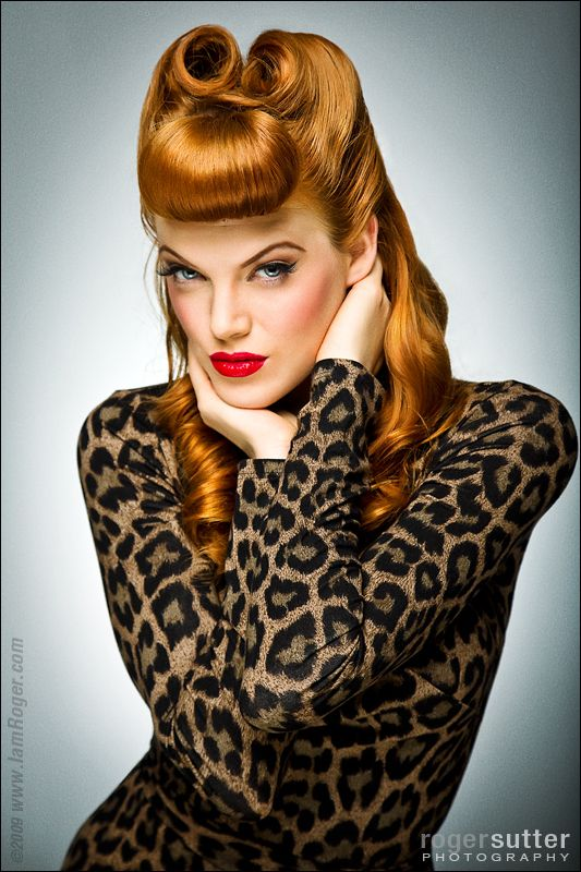 Amazing Fashion, Hair, and Make-up. Love her whole look! #Animal Print #Photography