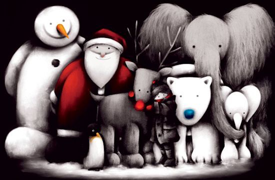 Artist: Doug Hyde Title: Friends Reunited Medium: Giclee Paper on Board