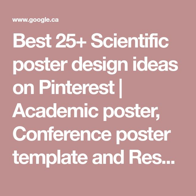 The 25+ best Research posters ideas on Pinterest Academic poster - research poster
