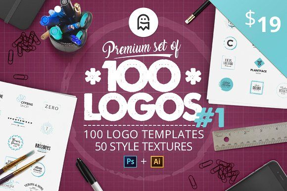 Premium set of 100 Logos #1 by Graphic Ghost on @creativemarket  #graphicghost #professional #logo #creators #kit #creation #create #pro #ultimate #best #bundle #set #vintage #retro #calligraphy #lettering #letters #logodesign #logos #monogram #brand #branding #template #templates #minimal #tool #tools #badge #label #tag #typography #clean #feminine #textures #watercolor #patterns #artists #hand #drawn #handmade #design #designer #graphics #graphicdesign #ai #psd #adobe #photoshop #mockup