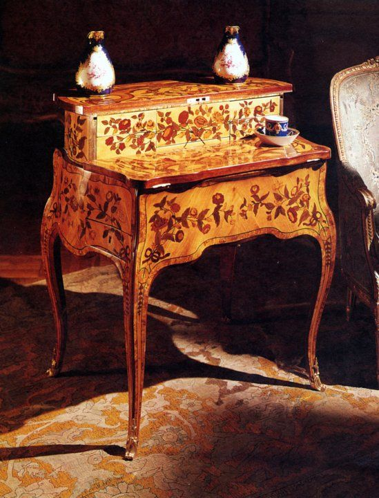 Table a la Bourgogne. Attributed to: J.P. Latz Larg 50 Long 75. Ex Collection: Louise Elisabeth the Duchess of Parma