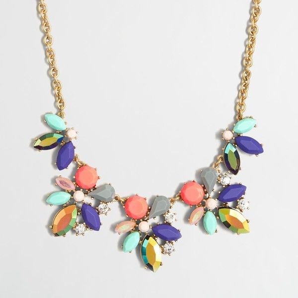 J.Crew Factory asymmetrical clusters necklace ($49) ❤ liked on Polyvore featuring jewelry, necklaces, chain necklaces, adjustable chain necklace, j crew jewelry, cluster necklace and chains jewelry