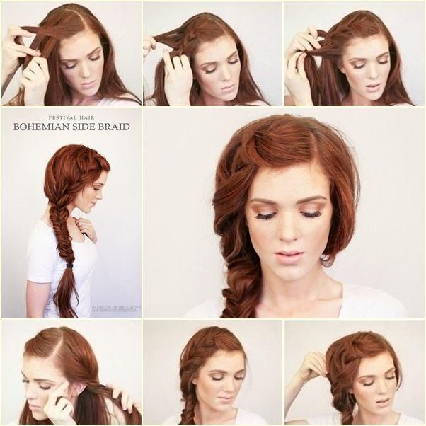 DIY Bohemian Side Braid Hairstyle tutorial and instruction. Follow us: www.facebook.com/fabartdiy