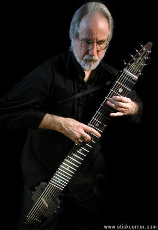 Emmett Chapman playing his invention, the Chapman Stick