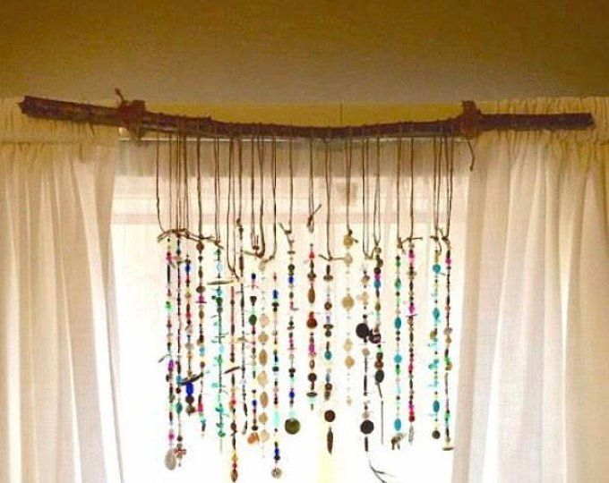 wall decor mobile spiritual gift Sun catcher patio decor window hanging mobile bo-ho hippie