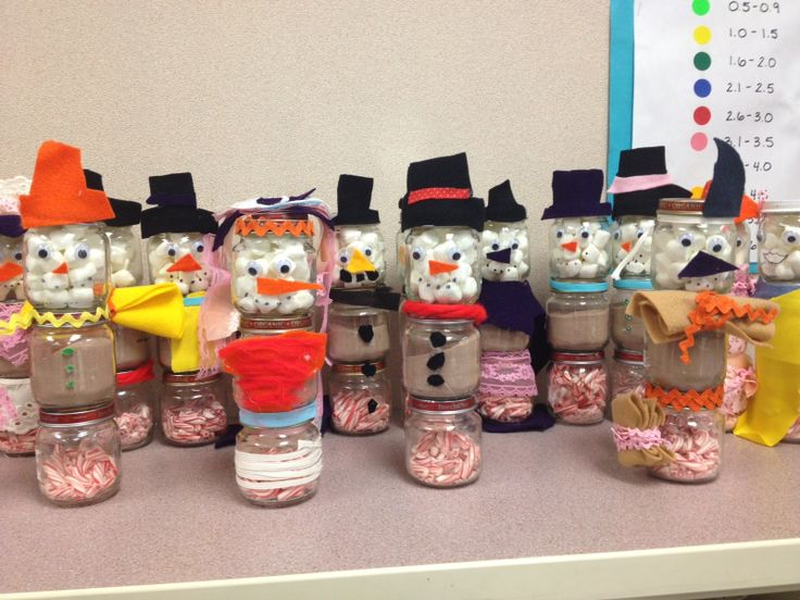 craft ideas for baby food jars baby food jar snowmen gifts school projects 7554