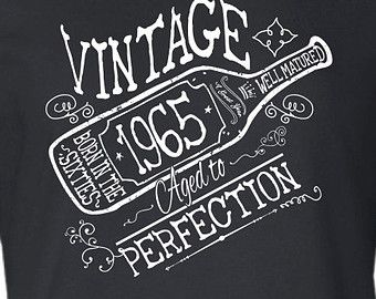 50th Birthday Gift For Men and Women - Vintage 1965 Aged To Perfection T-shirt Tee shirt Grandma Grandpa Birthday Gift idea ML-567
