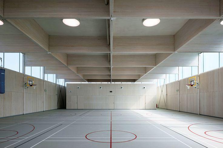 Gymnase du Groupe scolaire Salvador Allende, Saint Fons • Clément Vergely Architectes