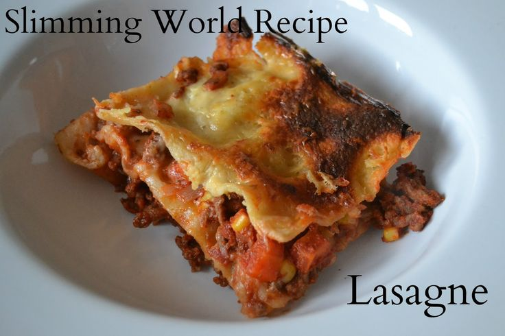 Slimming world recipe lasagne slimming world food Slimming world recipes for 1 person