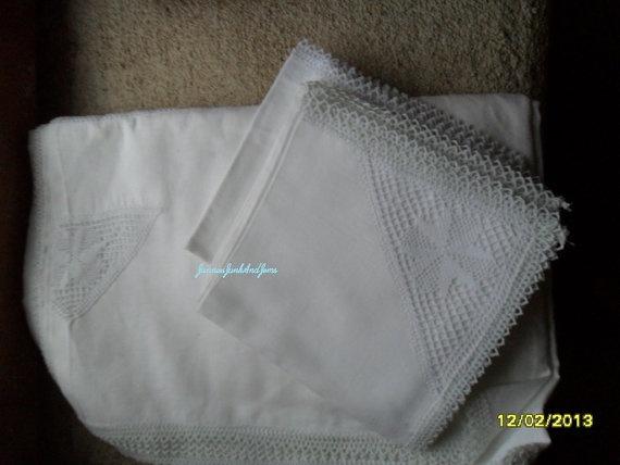 Lacy Tablecloth and Serviettes  English  by JanniesJunkandJems, €60.00