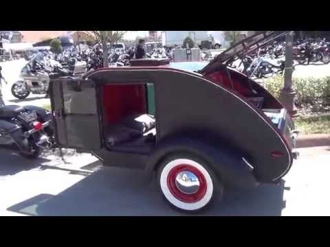 SMALL LIGHTWEIGHT CAMPER TRAILER SPECIAL MADE TO PULL BEHIND A MOTORCYCLE - YouTube