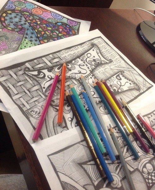 Letras para pintar e imprimir