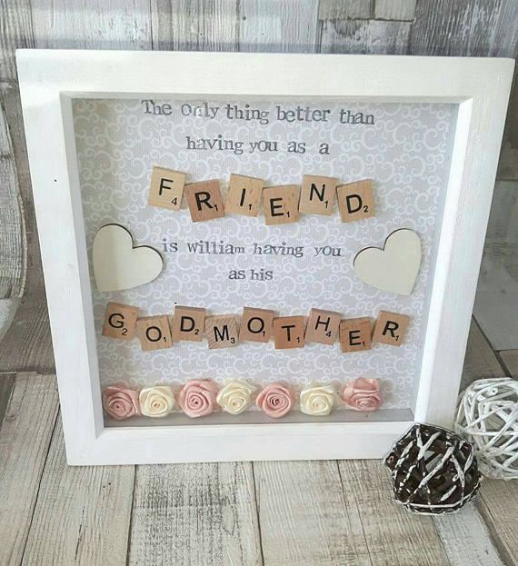 Godmother Frame, Gift For Godparents, Christening Gifts, Godparent ...