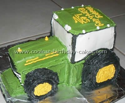Tractor Cake - Thomas' 4 year old birthday cake. Hoping to add a trailer somehow too.