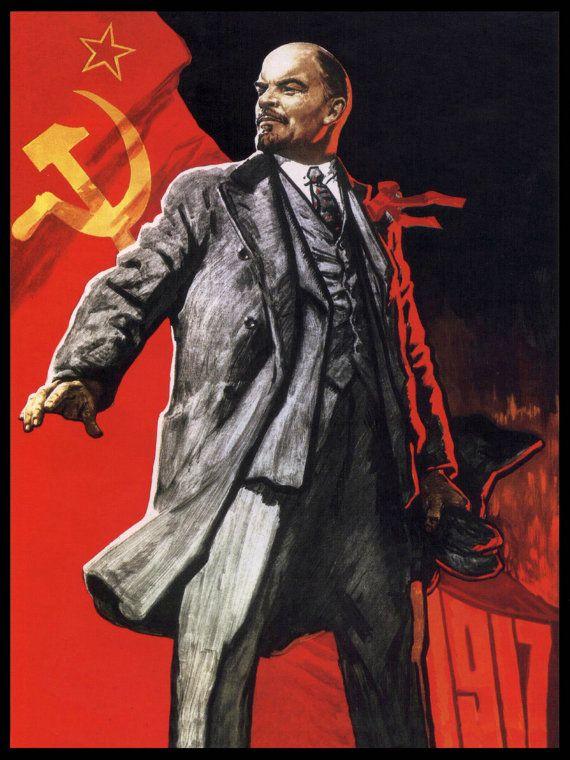 Reprint of a Russian Vintage Communist Propaganda Poster