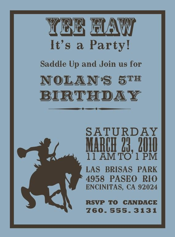 best 25+ cowboy party invitations ideas on pinterest | cowboy, Wedding invitations