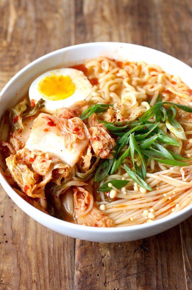 Kimchi Ramen recipe by SeasonWithSpicecom  Korean Noodle