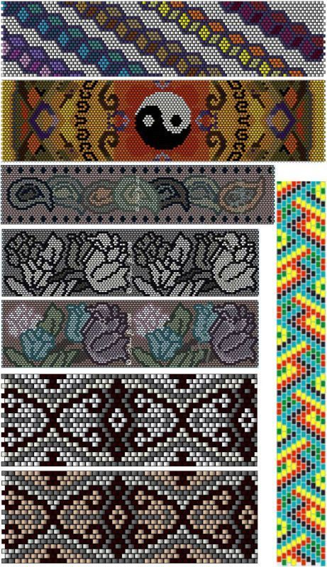 Beaded Peyote Patterns ... no color chart available, just use the pattern chart…